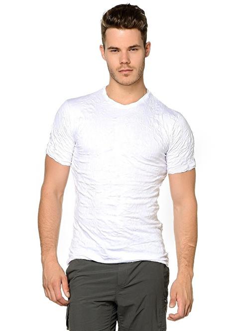 T-Box Slim Fit Tişört Beyaz